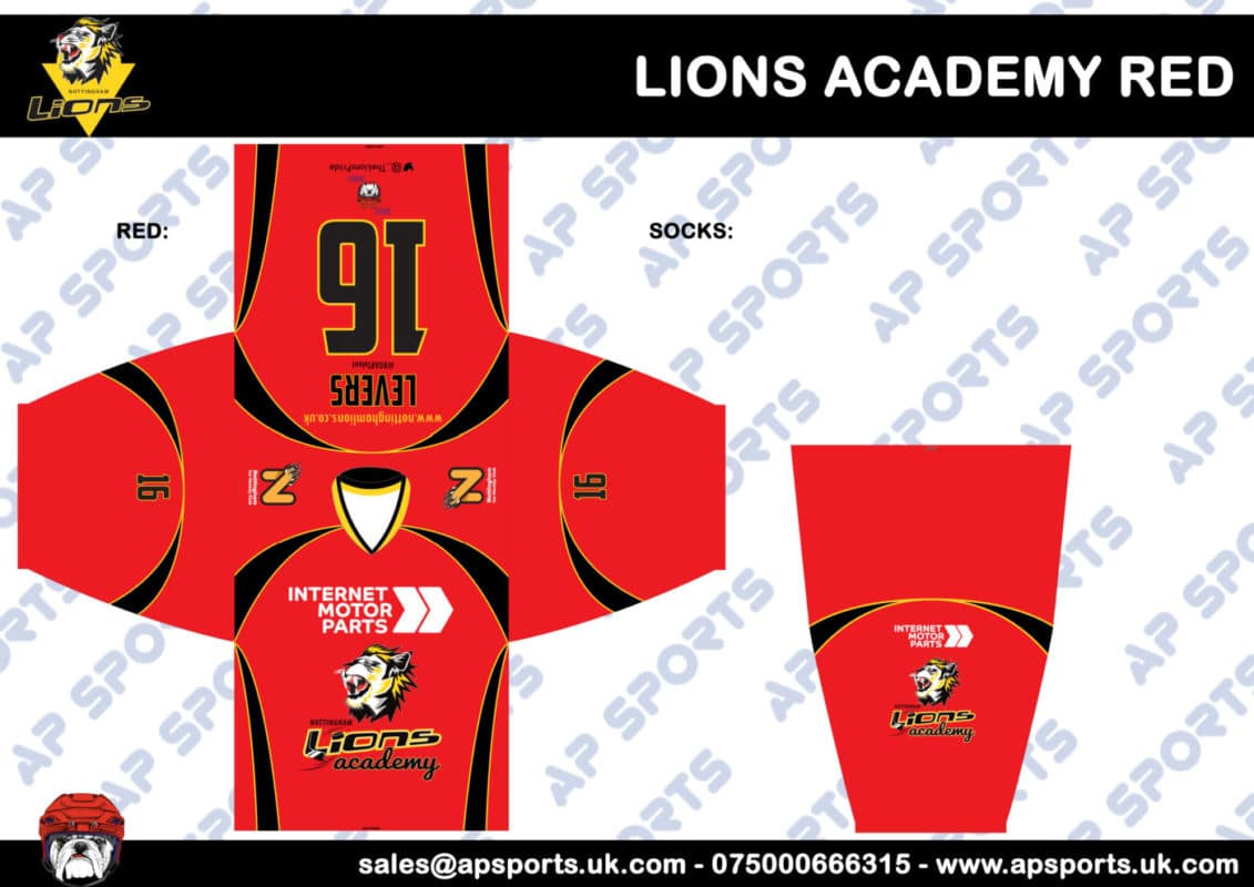 Lions Academy Red Design Proof Scaled